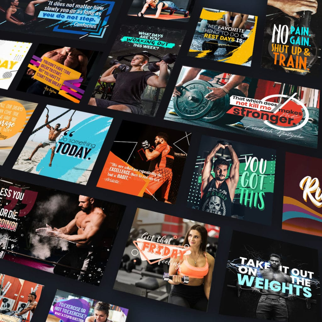 social media graphics for gyms
