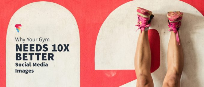 woman doing handstand with better social media images text