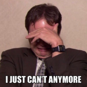 dwight schrute crying meme