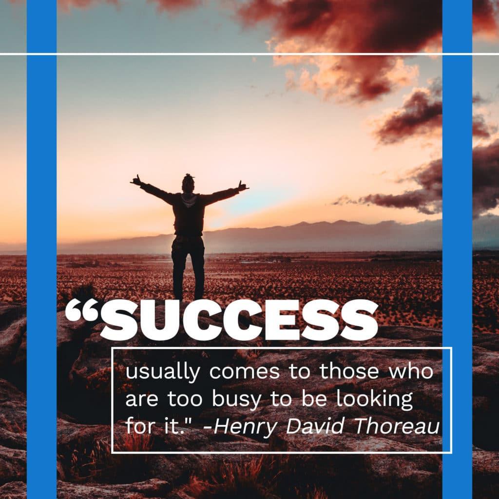 social media post success quote