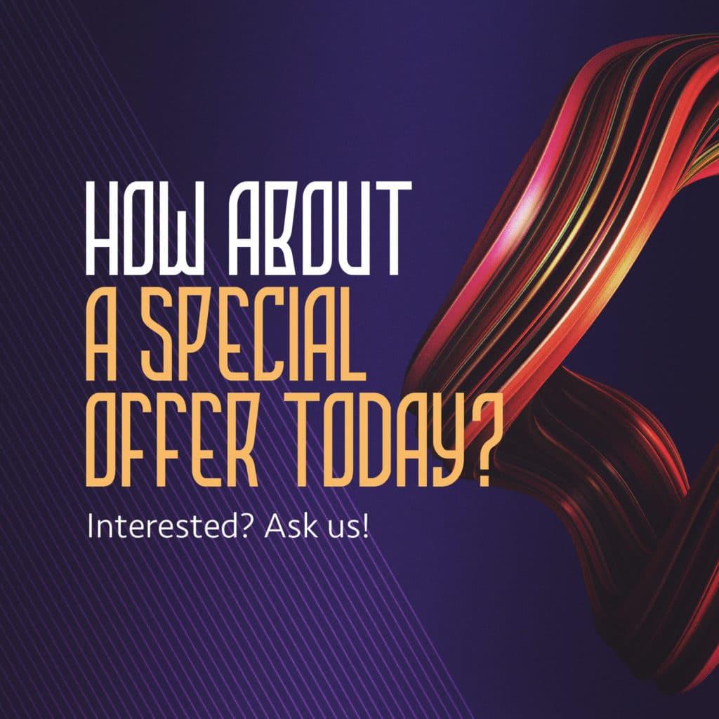 special offer social media posts