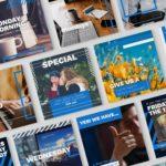 social media template preview