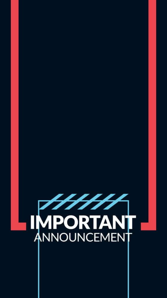 important announcement stories graphic